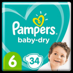 Pampers Baby-Dry Taille6, 34Couches
