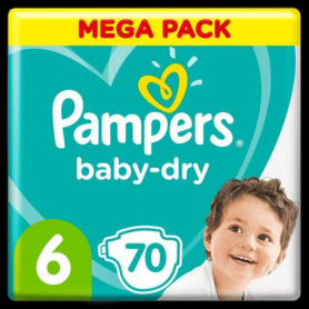 Pampers Baby-Dry Taille6, 70Couches