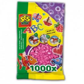 SES CREATIVE Lot de 1000 perles à repasser - Rose