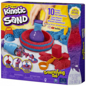 KINETIC SAND - Coffret Sandisfying 900g + 10 moules