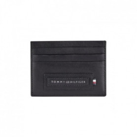 TOMMY HILFIGER Porte-cartes AM0AM06005BDS en cuir - Noir
