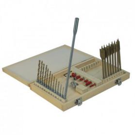MANNESMANN Coffret de foret a bois et métal 28 p