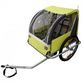 DURCA Remorque vélo pour 2 enfants - Poids max : 36 kg