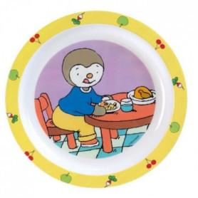 Fun House T'choupi assiette micro-ondable pour enfant