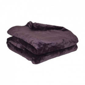 Couverture microflanelle 180x220 cm prune