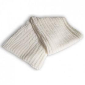 SOLEIL D'OCRE Plaid tricot 120x150 cm - Blanc