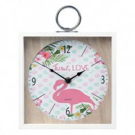 Horloge Murale Flamenco Rose (20 X 5 x 20 cm) 110822