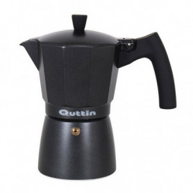 Cafetière Italienne Quttin Darkblack Induction Noir