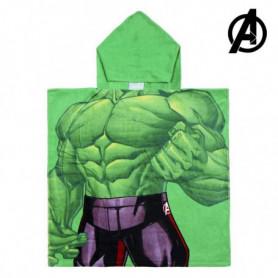 Serviette poncho avec capuche Hulk The Avengers 74157