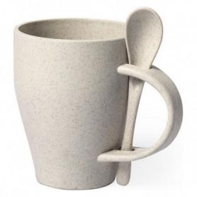 Tasse avec Cuillère 146549 400 ml Fibre de bambou Pp