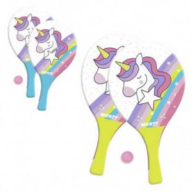 Raquettes de Plage avec Balle Unicorn Juinsa