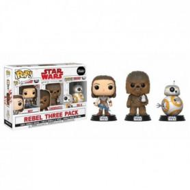 3 Figurines Funko Pop! Star Wars Episode VIII: Rey, Chewbacca, BB-8