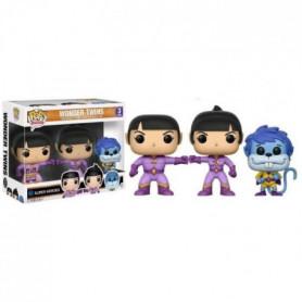 3 Figurines Funko Pop! Wonder Twins : Zan Jayna et Gleek
