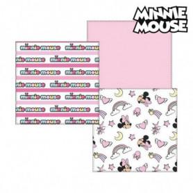 Serviette de bain en mousseline Minnie Mouse 75381 Rose (Pack de 3)