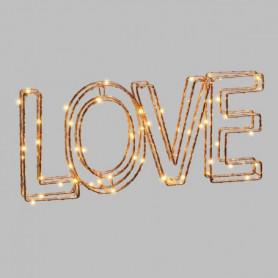 LOTTI Ecriture Love 3D en fil métal 34x15 cm