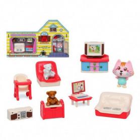 Accessoires pour maisons de poupées Build Your Living Room