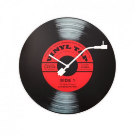 NEXTIME Horloge murale - Vinyl Tap- Glas - Ø 43 cm