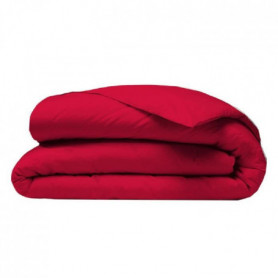 COTE DECO Housse de couette 200x200 cm - Rouge