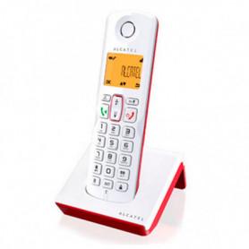 Téléphone Sans Fil Alcatel S-250 DECT SMS LED Blanc Rouge