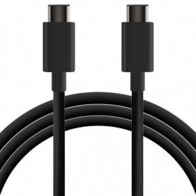 Câble USB-C vers USB-C KSIX 1 m Noir