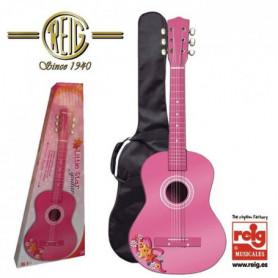 REIG Guitare espagnole - Boîte 75 cm- Rose