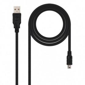 Câble USB 2.0 A vers Mini USB B NANOCABLE 10.01.0403 3 m Noir