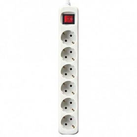 Multiprise 6 Prises avec Interrupteur Silver Electronics Blanc