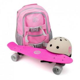 FUNBEE Skate 22 avec sac à dos + casque bol Rose