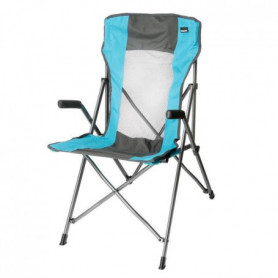 TRIGANO Fauteuil Tension - Gris / Turquoise
