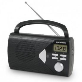 METRONIC Radio Portable - Noire