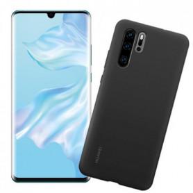HUAWEI Smartphone P30 Pro 128GB Bleu aurore + Coque silicone Noir