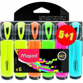 MAPED - Assortiment de 4 surligneurs classiques + 2 couleurs