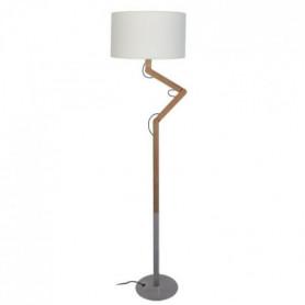 GERI Pied de lampadaire en bois massif naturel Ø 157 x H 135 cm