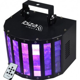 IBIZA LIGHT BUTTERFLY-RC Effet Butterfly a 6 LED