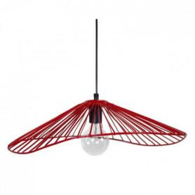 LADY Lustre - suspension filaire 50x44x13 cm rouge