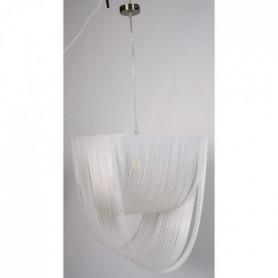 Lustre en fil blanc - L 38 x l 38 cm