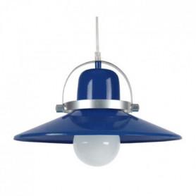 DANIEL Suspension acier 33x33x90 cm Bleu Marine