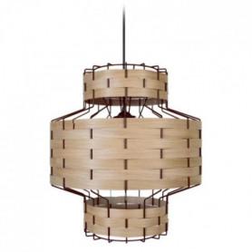 TRESSÉ BAGAN Suspension en bois et acier - Ø35 xH90 cm