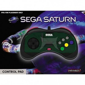 Manette filaire grise Retrobit SEGA Saturn 8 boutons
