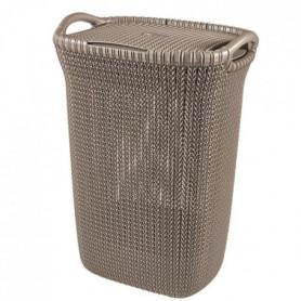 CURVER Coffre a linge 57 L - Aspect tricot