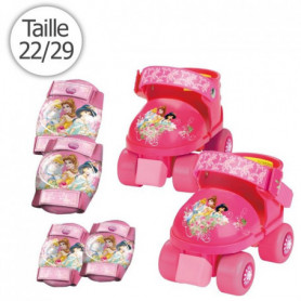 DISNEY PRINCESSES Set Rollers Ajustables + Protections