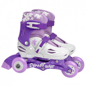 STAMP Rollers Fille Violet Triskate 2 en 1 Girl Ajustable 27-30