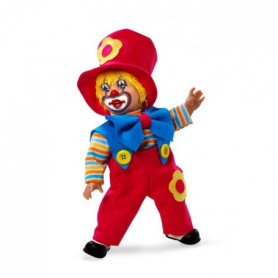ARIAS Poupon Clown fantaisie 38 cm - Noeud bleu