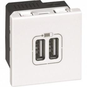 LEGRAND Prise double USB 2400 mA - 2 modules