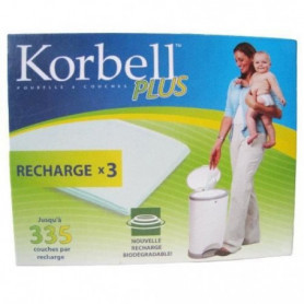 KORBELL Pack de 3 Recharges 26L Plus