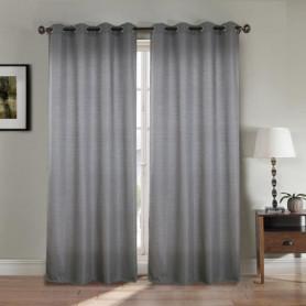 Paire double rideaux 140x260 cm Gris clair