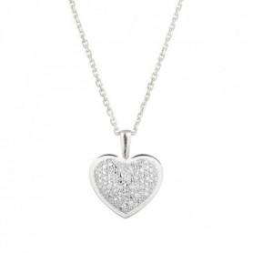 LE DIAMANTAIRE Pendentif Coeur Or Blanc et Diamant