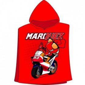 GP MOTORS Serviette Poncho Marc Marquez - Rouge et Noir
