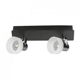 FUSION Spot 2 lumieres LED - L 27 x H 9 cm - Noir