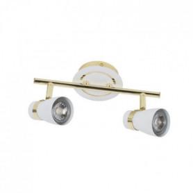 BRUCE Spot 2 lumieres LED - L 27,5 x H 15 cm - Blanc
